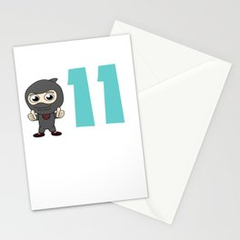 Birthday Ninja 11th Party Samurai Ninjas Gift Japanese Ninja stars Fighter Gift Stationery Cards