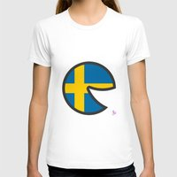 sweden T-shirts featuring Sweden Smile by onejyoo