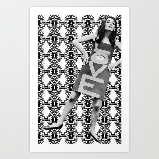 LOVE implosion #9 [invert]  Art Print