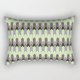 Green and Purple Fairisle Rectangular Pillow