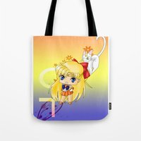 sailor venus Tote Bags featuring Sailor Venus by artwaste