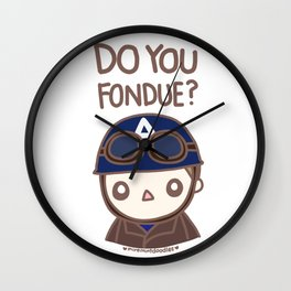 Do you fondue? Wall Clock