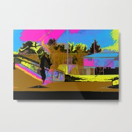 The Lift-Off - Skateboarder Metal Print