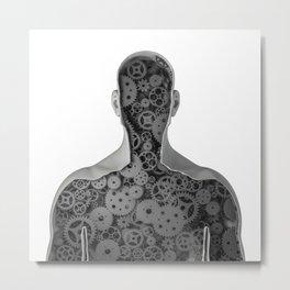 Clockwork human Metal Print