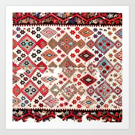 Gaziantep  Antique Turkish Tribal Kilim Art Print