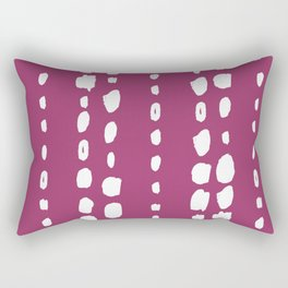 Magenta pink white abstract geometrical brushstrokes Rectangular Pillow