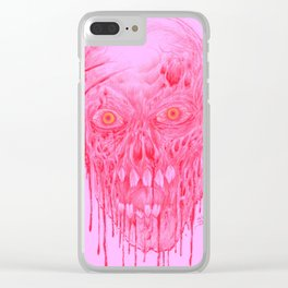 Skinless Red Horror Zombie Art Clear iPhone Case