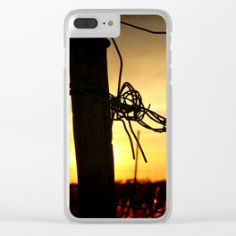 On The Border Clear iPhone Case