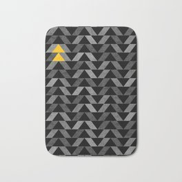 Triangle -Yellow and Grey Bath Mat
