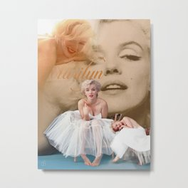 Marilyn Portrait Collage 3 Metal Print