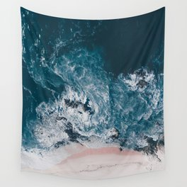 I love the sea - written on the beach Wall Tapestry