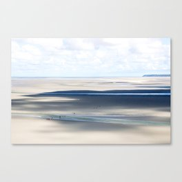 Low Tide at le Mont St. Michel Canvas Print