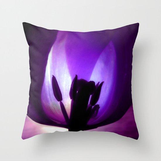 Dark Tulip Throw Pillow