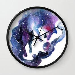 Galaxy Fox Wall Clock