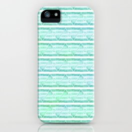 chevron blue&green iPhone Case