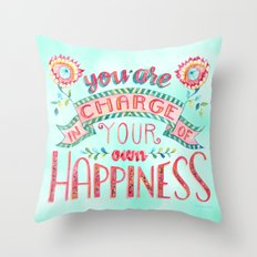 You are in Charge Throw Pillow