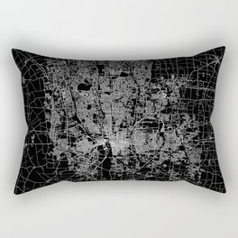 Columbus map ohio Rectangular Pillow