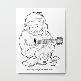 "The Glitter Dragons: ""Writing Songs is Hard Work""  Metal Print"