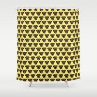 polkadot Shower Curtains featuring Terrier Polkadot by Luke Clark