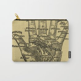 French Palmistry Carry-All Pouch
