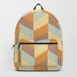 Striped colored chevron Backpack
