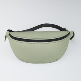 Earthy Green on Sweet Pea Green Parable to 2020 Color of the Year Back to Nature Polka Dot Grid Fanny Pack