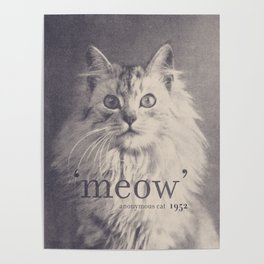 Famous Quotes #2 (anonymous cat, 1952) Poster
