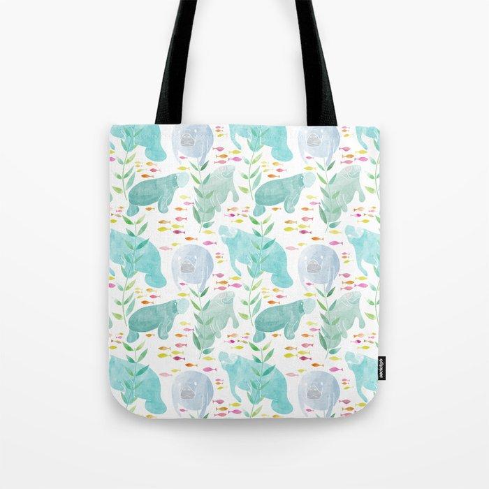 Lazy Manatees Tote Bag