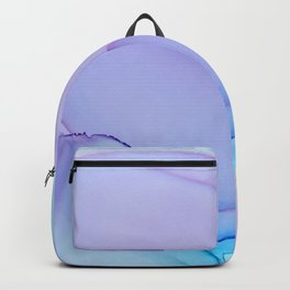 Lilac Essense fluid ink abstract painting Backpack