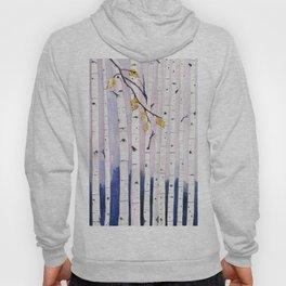 Birch Trees Watercolor Hoody