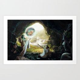 Birth of Zeus Art Print