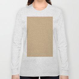 Tan Brown Long Sleeve T-shirt