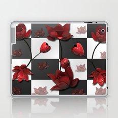 Burnt Crimson Flora Laptop & iPad Skin
