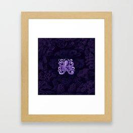 Octopus1 (Purple, Square) Framed Art Print