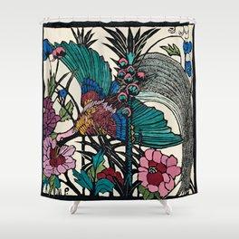 """Bird of Paradise"" by Margaret Preston Shower Curtain"