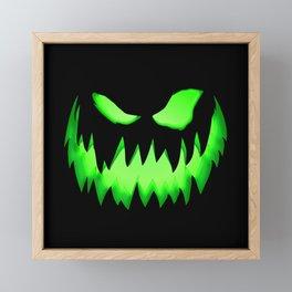 Evil Green ghost Framed Mini Art Print