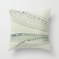 wings Throw Pillows featuring wings by Bonnie Jakobsen-Martin
