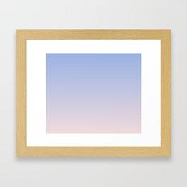 Pantone Color of the Year 2016 Rose Quartz & Serenity Ombre Macbook Skin Framed Art Print