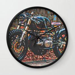 Vintage Cafe Racer Bike Wall Clock
