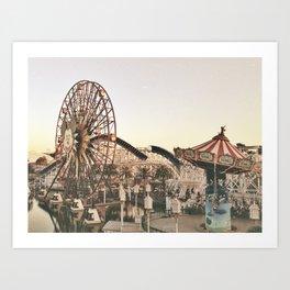Mickey Wheel Art Print