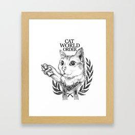 Cat World Order Framed Art Print