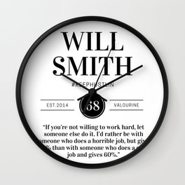 21 |  Will Smith Quotes | 190905 Wall Clock