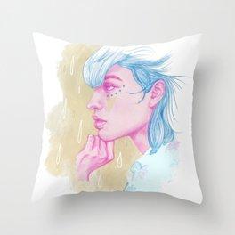 Feeling Blue Throw Pillow