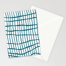 Net Blue on White Stationery Cards