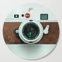 Retro vintage leather camera Cutting Board