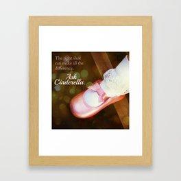 The Right Shoe Framed Art Print
