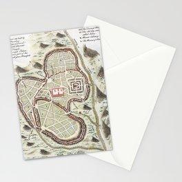 Vintage 1730 Street Map or Plan of Jerusalem Stationery Cards