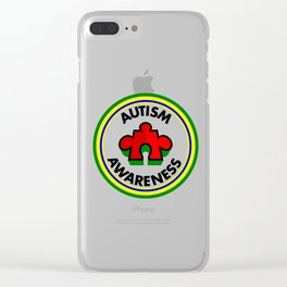 Autism Awareness Clear iPhone Case