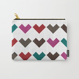 leather geometric love on white Carry-All Pouch