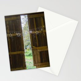 Through the barn door  Stationery Cards